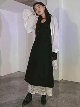 韓國空運 - Shirring Athena Long Dress 長洋裝