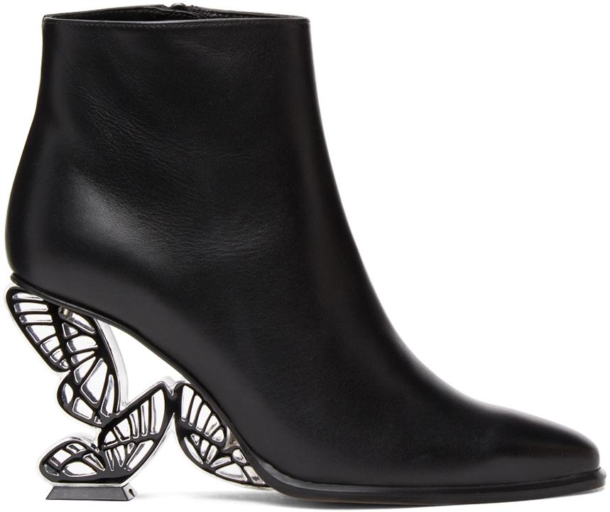 Sophia Webster 黑色 Paloma 踝靴