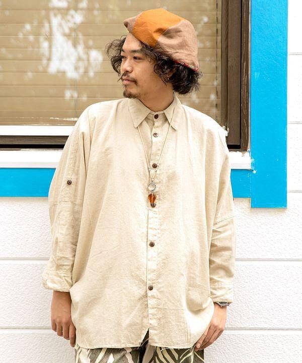 尼泊爾棉質 Dolman 袖襯衫