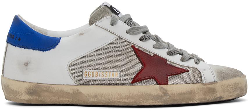 Golden Goose 灰色 & 白色 Super-Star 运动鞋