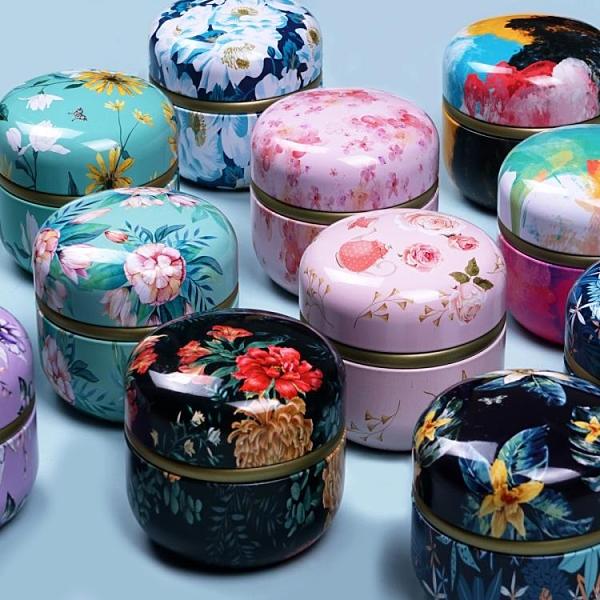 茶葉罐 新款日式迷你小號茶葉罐隨身密封便攜式紅茶鐵罐花茶包裝罐鐵盒【快速出貨】