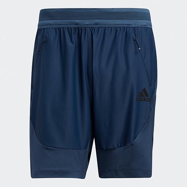 Adidas HEAT.RDY 男裝 短褲 慢跑 訓練 吸濕排汗 透氣 拉鍊口袋 藍【運動世界】GM0339