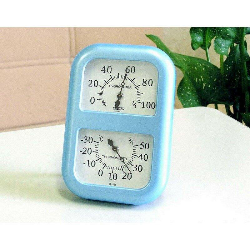CRECER溫濕度計(日本原裝)溫度計/濕度計/溼度計/溫溼度計CR-135(藍色)