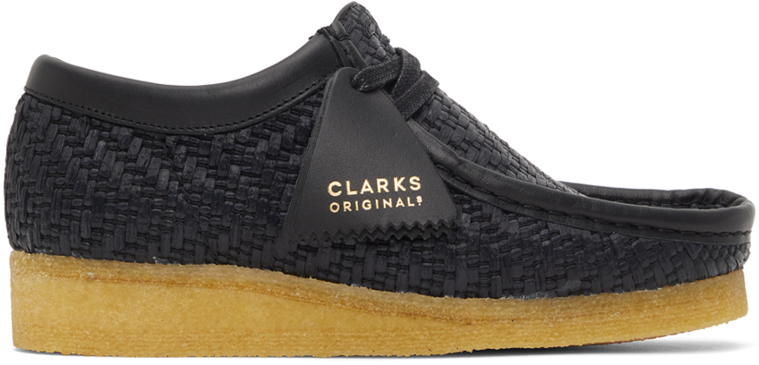 Clarks Originals 黑色 Wallabee 莫卡辛鞋