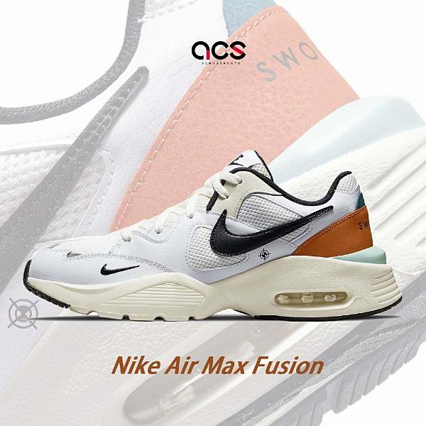 Nike 休閒鞋 Air Max Fusion 米白 黑 氣墊 男鞋 復古外型 Off White 設計風格 OW【ACS】 DJ5210-101