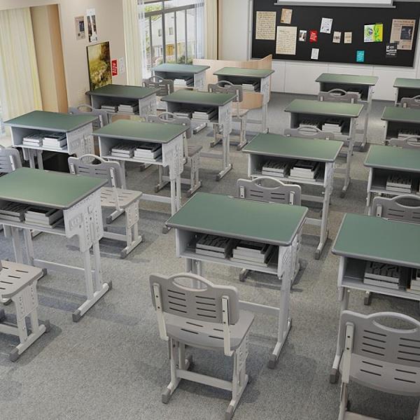 課桌椅中小學生學校教室書桌兒童家用升降學習桌輔導補習班培訓桌 艾瑞斯AFT「快速出貨」