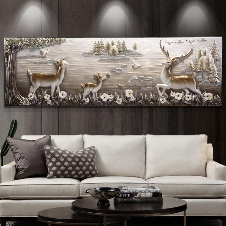 3D立體浮雕裝飾畫客廳沙發背景墻掛畫現代簡約大氣壁畫歐式墻畫 尺寸:70*220 MKS免運