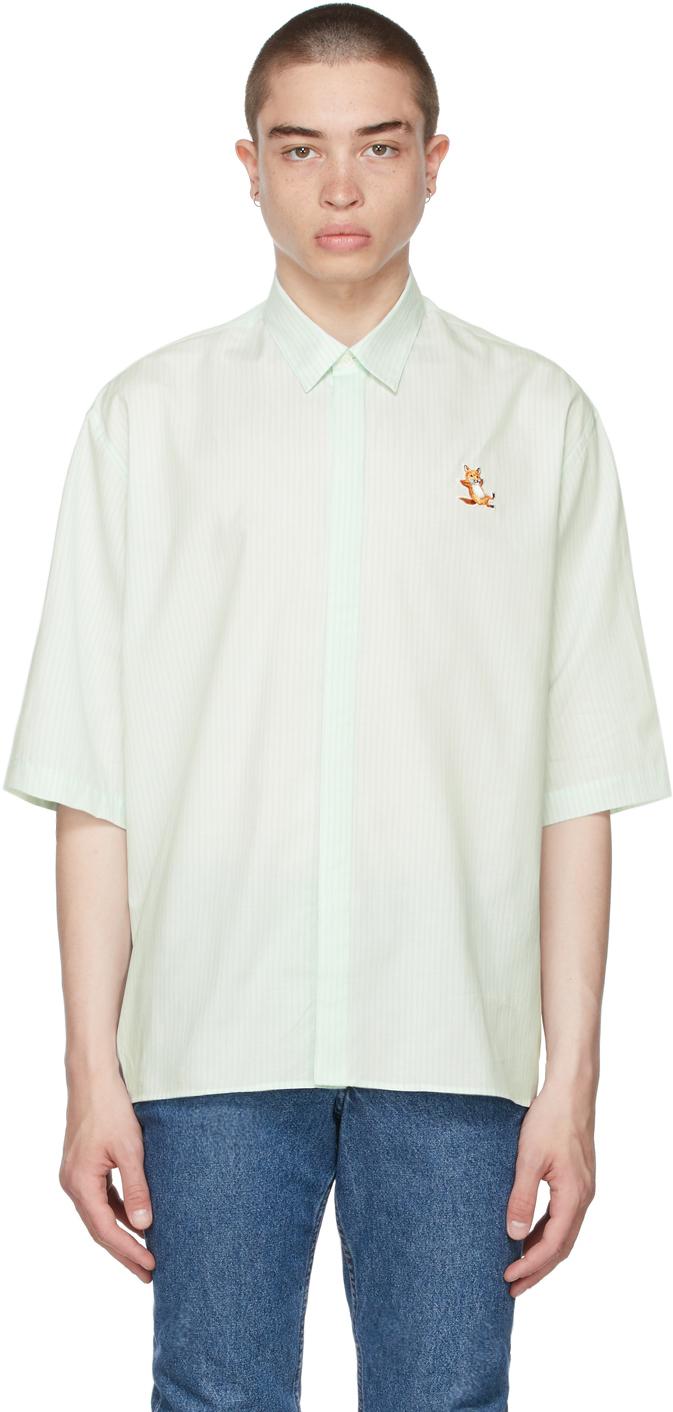 Maison Kitsuné 绿色 Chillax Fox 短袖衬衫