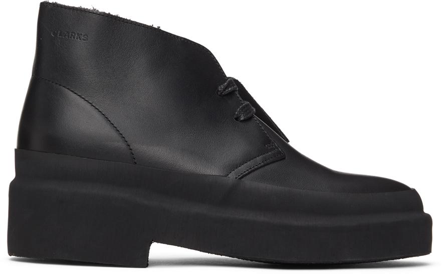 Clarks Originals 黑色 Galosh 沙漠靴