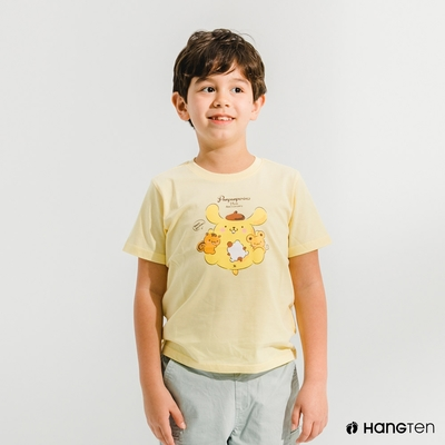 Hang Ten-中性童-Sanrio印花短袖T恤-黃色