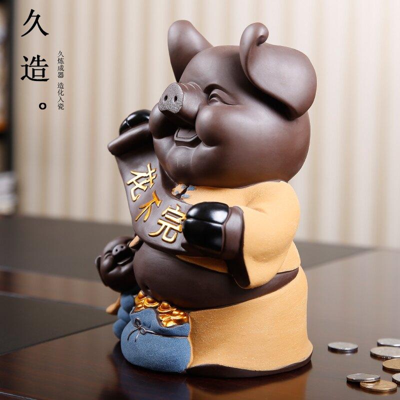 硬幣存錢罐可愛創意豬擺件大號陶瓷個性豬豬儲蓄罐送同學生日禮物