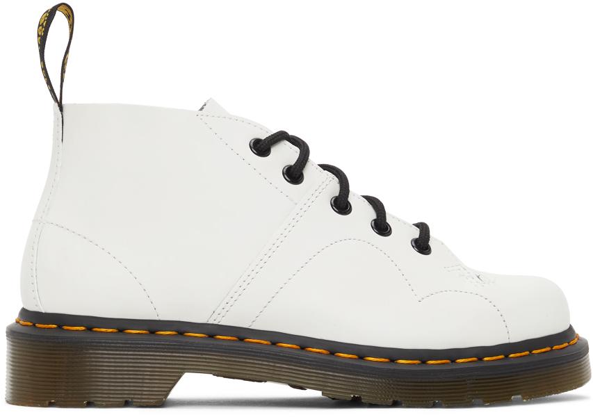 Dr. Martens 白色 Church 踝靴