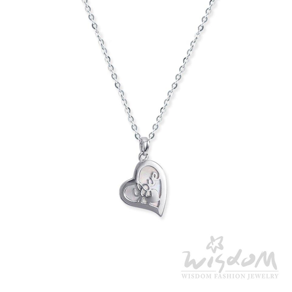 威世登時尚珠寶- 珍珠貝心型銀小套鍊(白) 禮物推薦 SB00317-ACEX