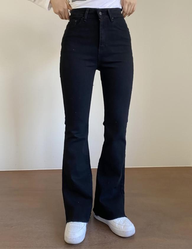 韓國空運 - long black Flared pants 牛仔褲