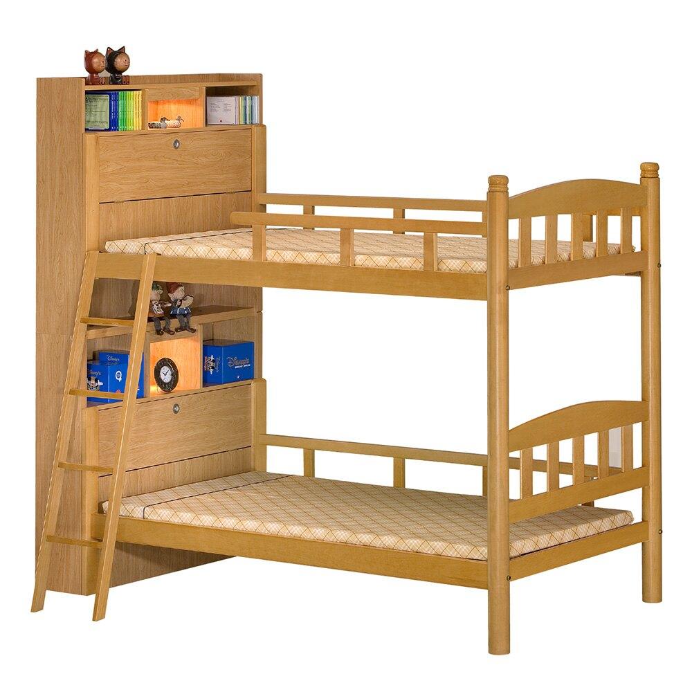 【全館現貨 下殺45折起】艾肯實木3.5尺側邊書架收納雙層床(不含床墊) 專人組裝 宿舍公寓 上下舖 台灣製 原森道