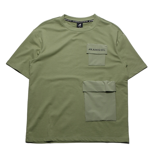KANGOL 短袖 短T 雙口袋 抹茶綠 袋鼠 棉 男 (布魯克林) 6121100972