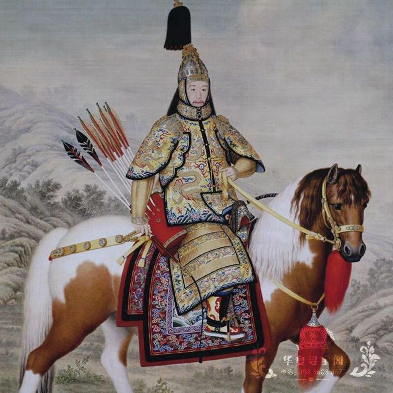 收藏仿古字畫國畫山水畫中堂畫辦公室客廳裝飾畫已裝裱乾隆皇帝像