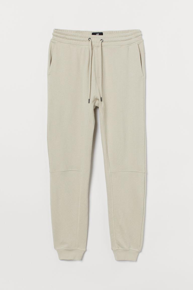 H & M - 錐形運動長褲 - 米黃色