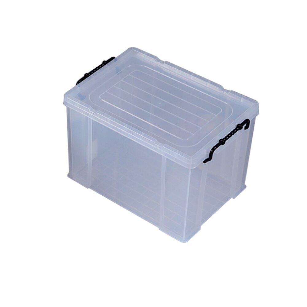 特惠-《真心良品》KEYWAY耐久型掀蓋式透明整理箱19L-3入 618年中慶