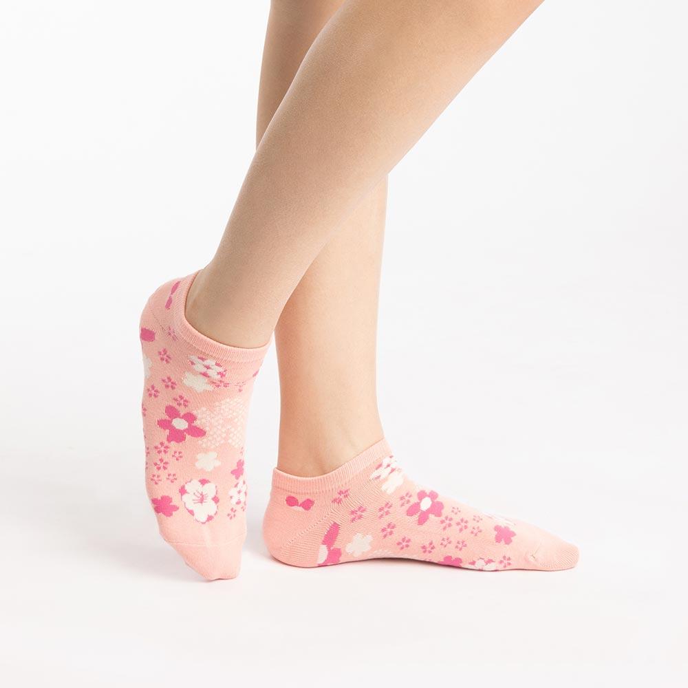 【M號】花見小路船型襪-粉紅 (商品編號:S0519881M)