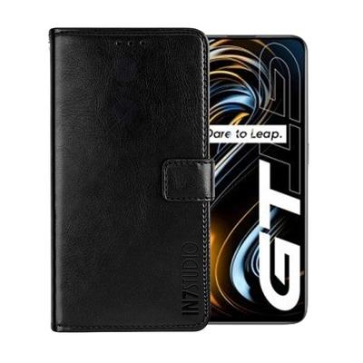 IN7 瘋馬紋 realme GT (6.43吋) 錢包式 磁扣側掀PU皮套 吊飾孔 手機皮套保護殼
