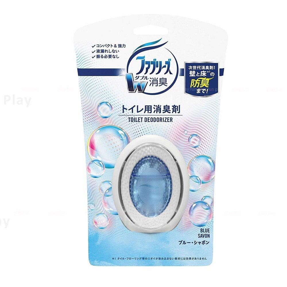 日本【P&G】Febreze W 系列 潔淨皂香廁所用放置型消臭劑 6ml(藍色皂香)