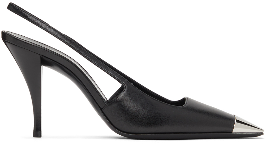 Saint Laurent 黑色 Blade 露跟中跟鞋