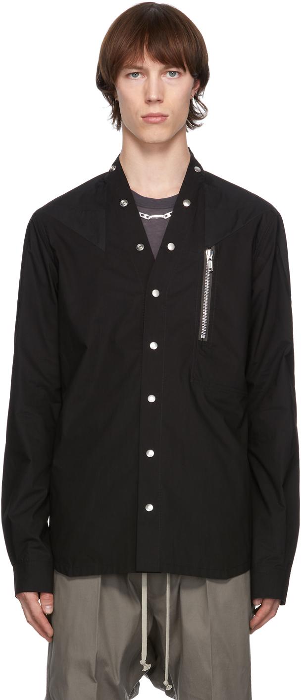 Rick Owens 黑色 Performa 衬衫