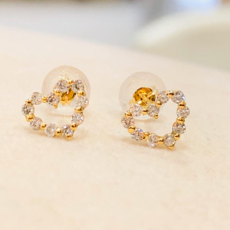 Au750(18k) 天然鑽石耳環/18分《現貨供應中歡迎門市自取》