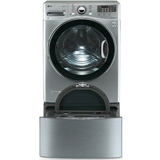 【LG 樂金】滾筒洗脫烘-18KG+下層2.5KG洗衣機WD-S18VCD+WT-D250HV【三井3C】