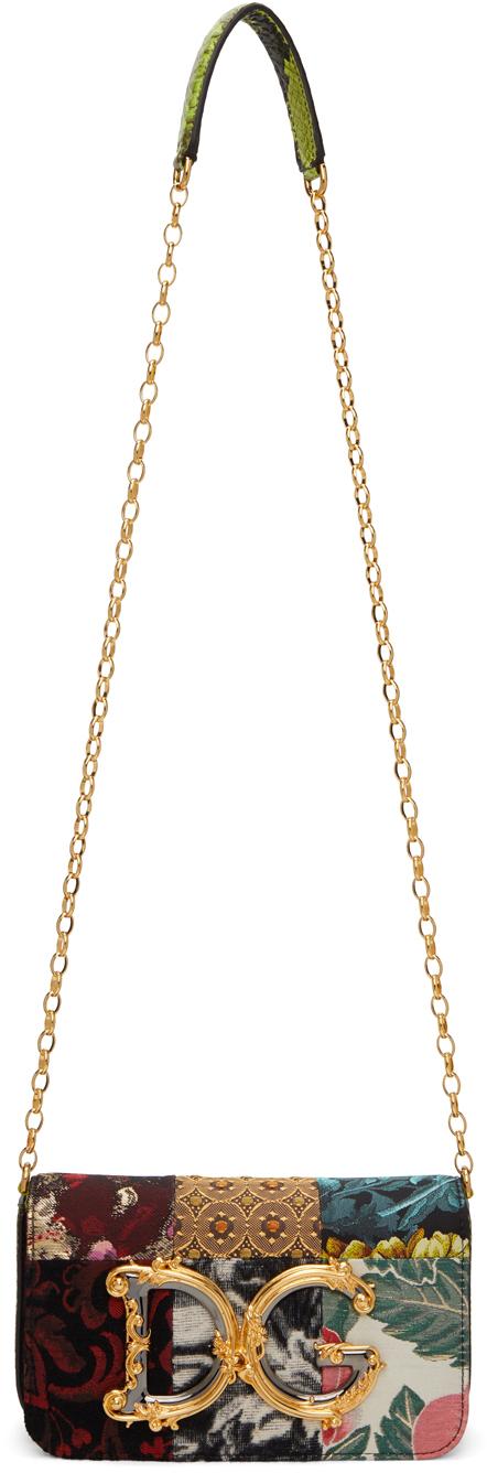 Dolce & Gabbana 多色 DG Girls 系列拼布单肩包