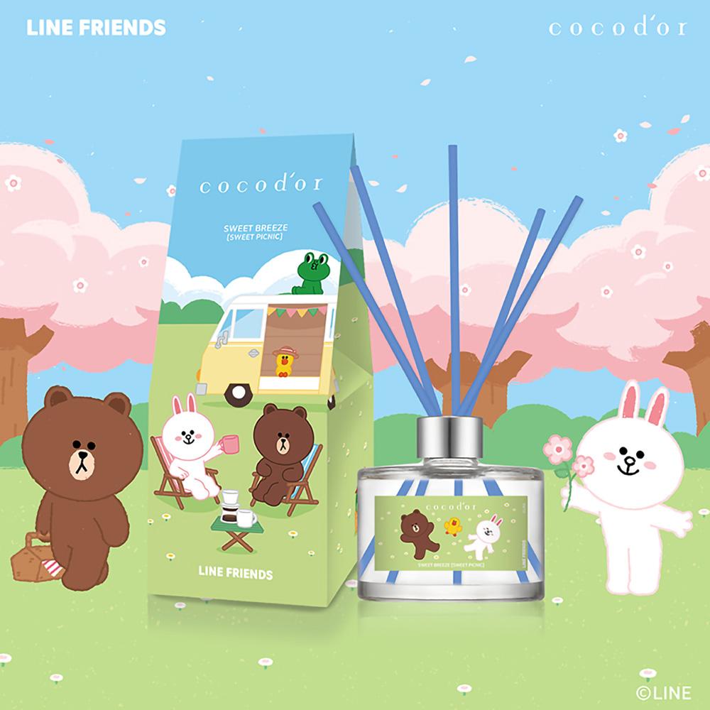 LINE FRIENDS 愜意微風 擴香瓶 200ml-Sweet Picnic 甜蜜野餐