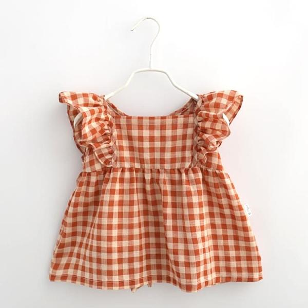 女寶寶防臟罩衣公主兒童防水圍裙嬰兒吃飯衣小孩無袖護衣夏季 幸福第一站