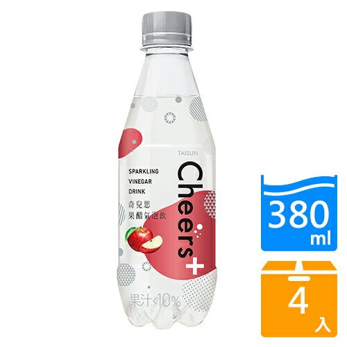 Cheers+果醋氣泡飲380ML*4入【愛買】