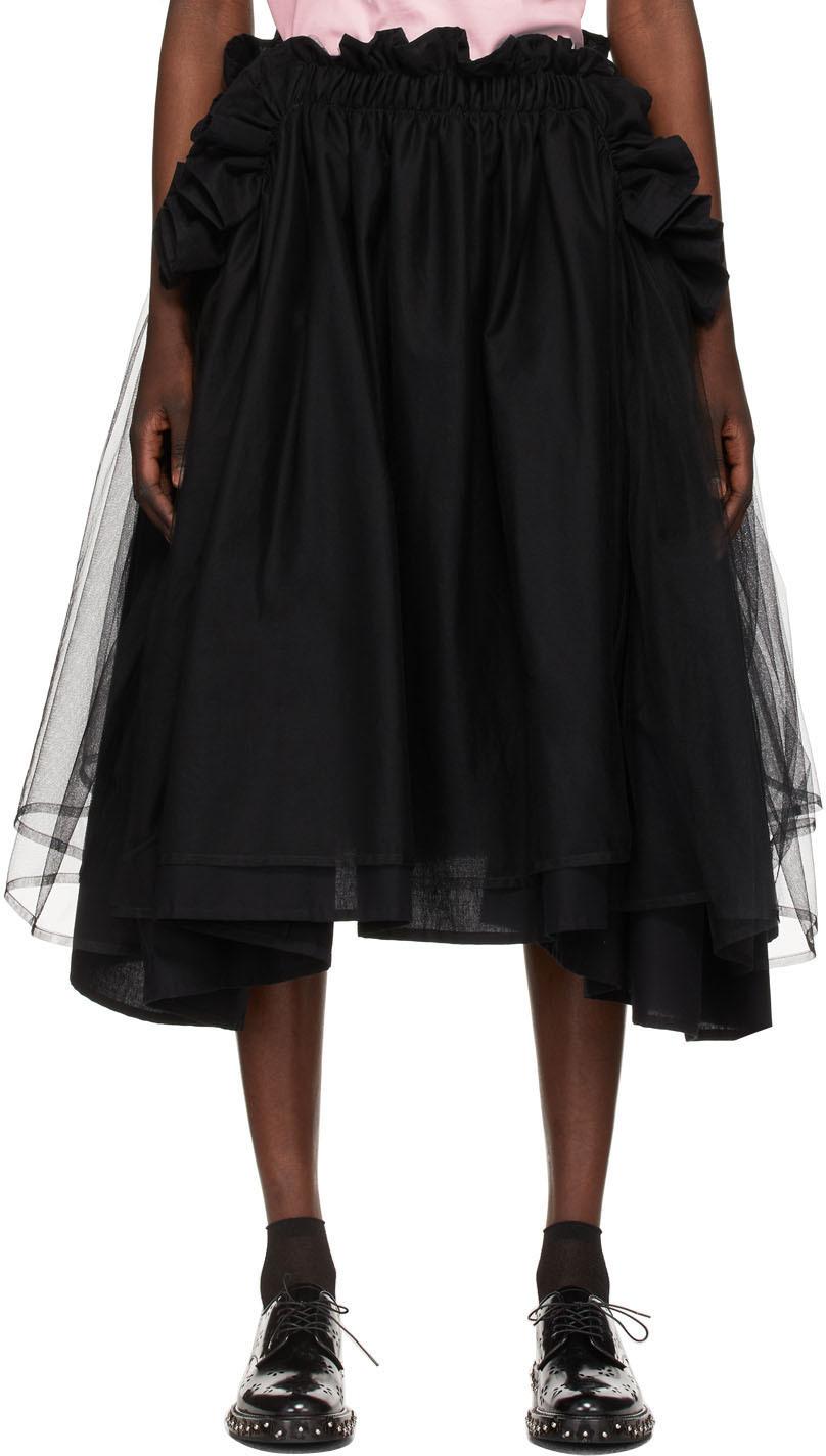 Noir Kei Ninomiya 黑色薄纱半身裙