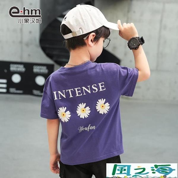 兒童短袖上衣男童短袖男孩t恤衫兒童半袖韓版中大童上衣 風之海