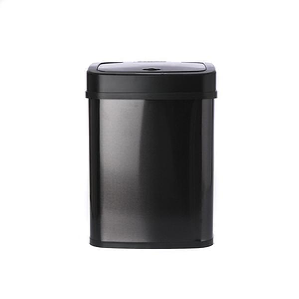 美國NINESTARS感應式金屬垃圾桶12L-黑色DZT-12-5