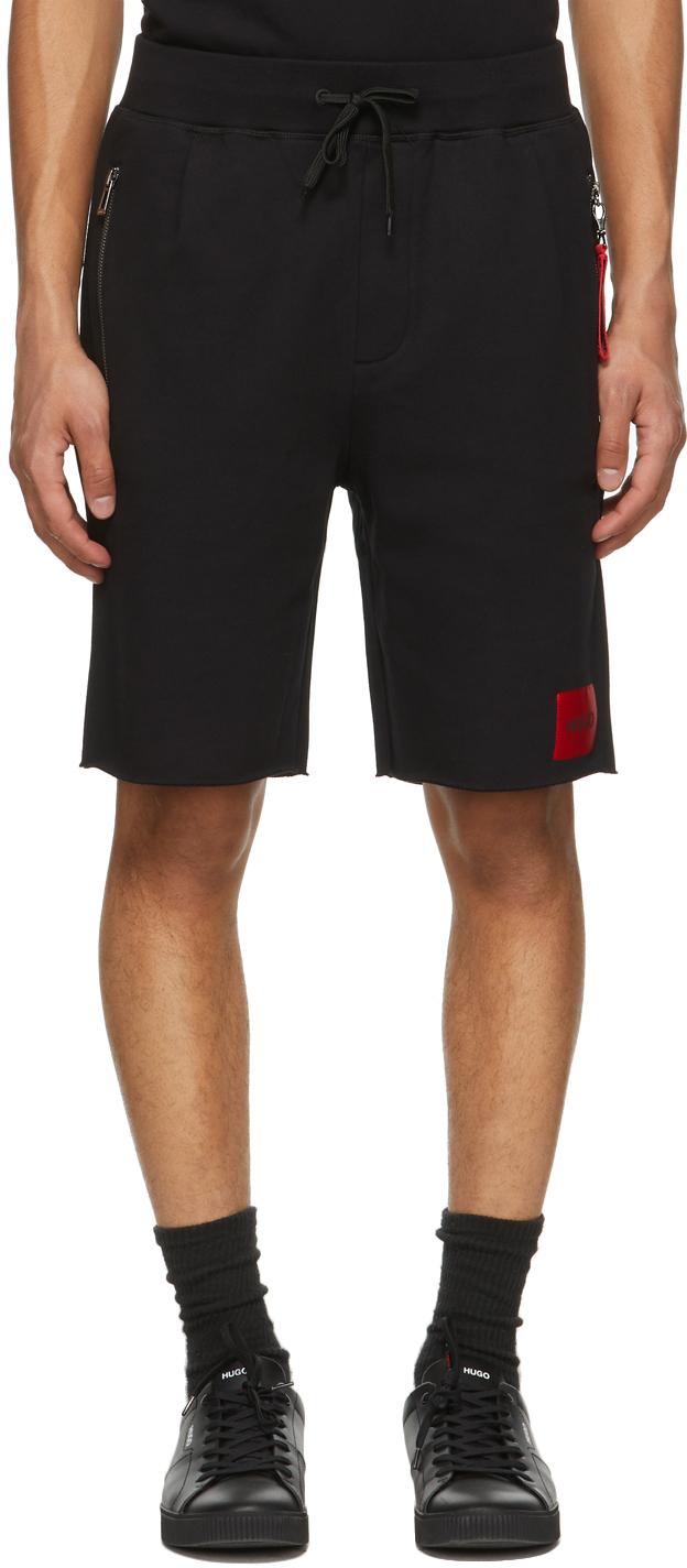 HUGO 黑色 Dactus 短裤