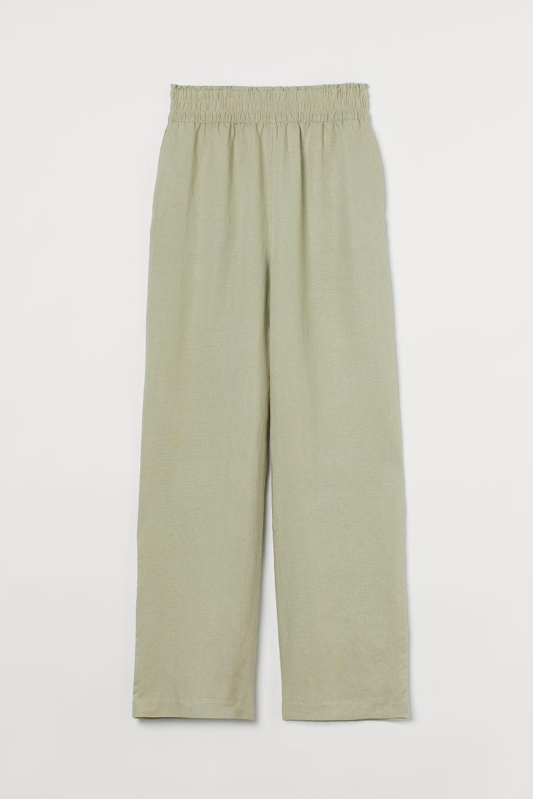 H & M - 寬管褲 - 綠色