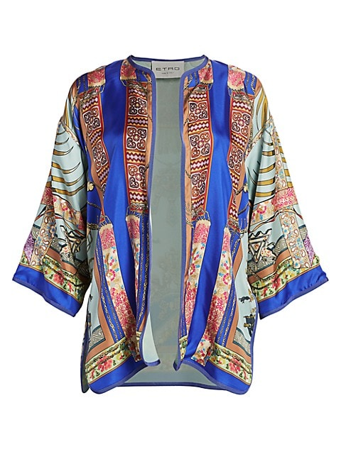 Safari Jewel Silk Kimono