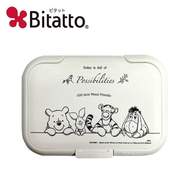 【日本正版】小熊維尼 樹林系列 濕紙巾蓋 L號 日本製 濕紙巾盒蓋 重複黏 Winnie 維尼 Bitatto - 291321