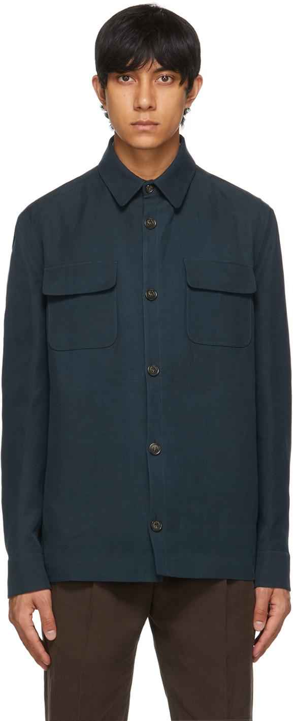 Loro Piana 蓝色衬衫夹克