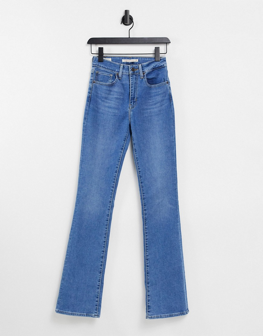 Levi's 725 high rise bootcut jeans in mid blue wash