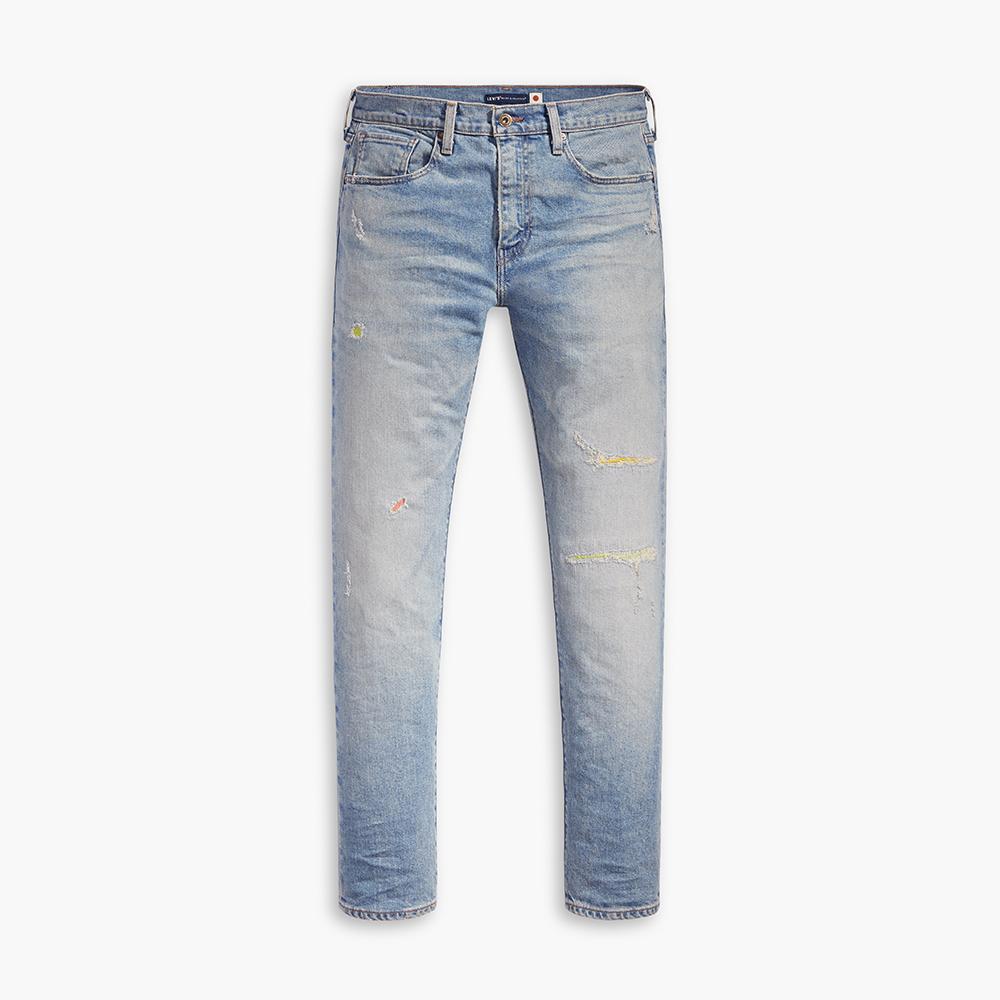 Levis LMC MIJ日本製 男款 上寬下窄 502Taper牛仔褲 / 日本職人補丁磨損工藝-熱銷單品
