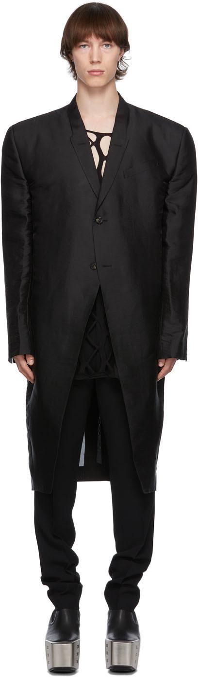 Rick Owens 黑色 Jumbo Tatlin 大衣