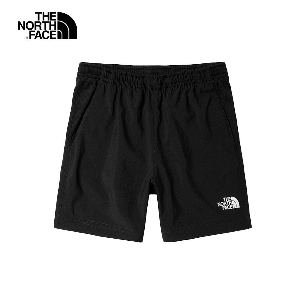 The North Face北面兒童黑色吸濕排汗運動短褲|55TTJK3