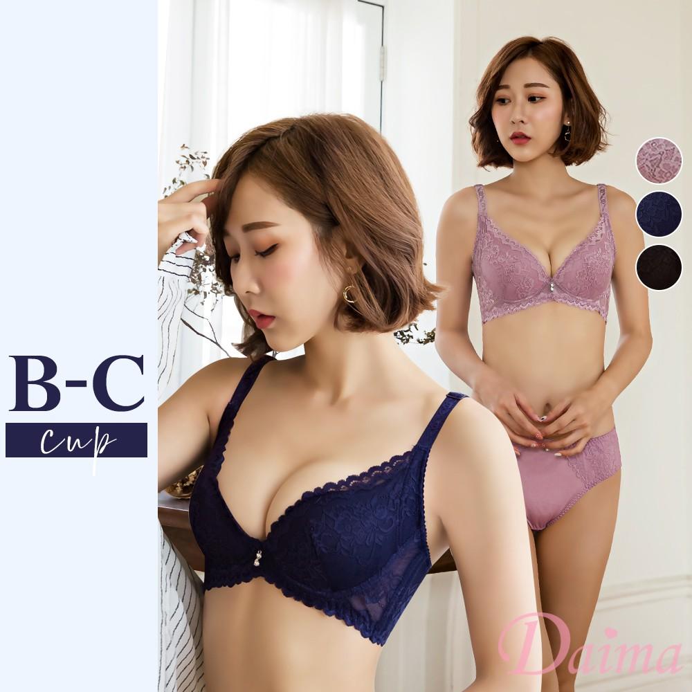 【黛瑪Daima】女神誓約美背蕾絲成套內衣 多色可選 B-C(2729)