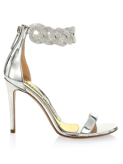 Elsa Crystal-Embellished Leather Sandals