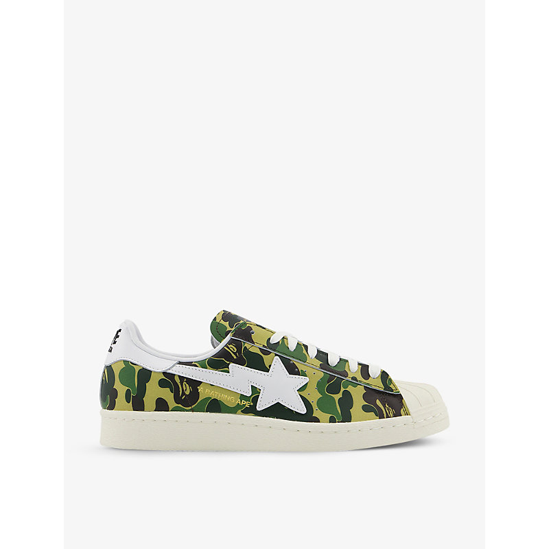adidas x A Bathing Ape Superstar 80s leather low-top trainers