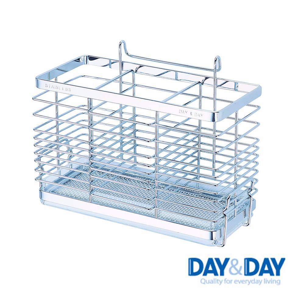 【DAY&DAY】 餐具桶(附滴水盤)《WUZ屋子》餐具架 不鏽鋼收納架